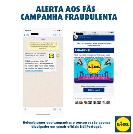 Lidl alerta para campanha fraudulenta nas redes sociais