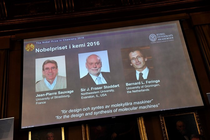 Nobel da Química vai para as máquinas mais pequenas do mundo