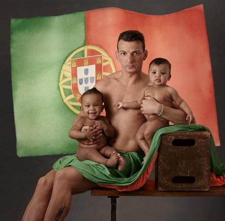 O atleta português que foi fotografado por Anne Geddes